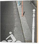 Bicycle Symbol In Paris Wood Print