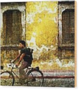 Bicycle Textures Wood Print