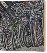 Bicycles For Rent Wood Print
