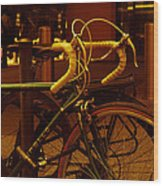 Bicyclette Wood Print by BandC  Photography