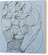 Biding Time - Doodle Wood Print