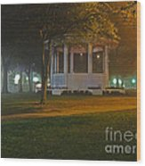 Bienville Square Grandstand In A Foggy Mist Wood Print