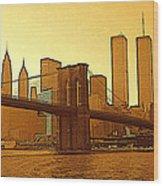 New York City - Big Apple Sunrise Wood Print