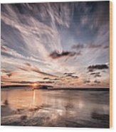 Atlantic Sky Wood Print