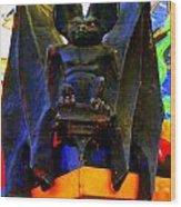Big Bad Bat Wood Print