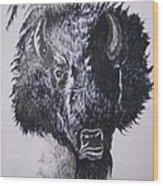 Big Bad Buffalo Wood Print