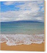 Big Beach Maui Wood Print
