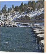 Big Bear Dam - California Wood Print