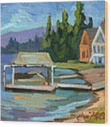 Big Bear Lake South Shore 2 Wood Print