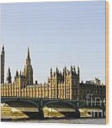 Big Ben And Houses Of Parliament Wood Print