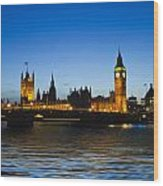 Big Ben And The Houses Of Parliament   Wood Print