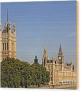 Big Ben And The Houses Of Parliament In London England Wood Print