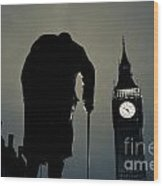 Big Ben And Winston Churchill  Wood Print
