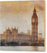 Big Ben At Dusk Wood Print