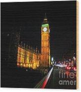 Big Ben At Night  Wood Print