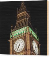 Big Ben Close Up Wood Print