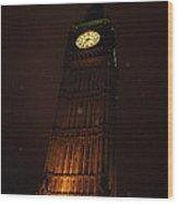 Big Ben In Rainy Night Wood Print