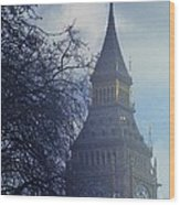 A Surreal Vision Of Big Ben, London Wood Print