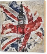 Big Ben Wood Print by Mo T