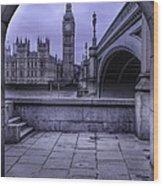 Big Ben Through The Arch Wood Print