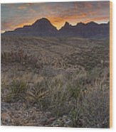 The Window View Of Big Bend National Park At Sunrise Wood Print