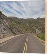 The Winding Roads Of Big Bend National Park Wood Print