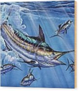 Big Blue And Tuna Wood Print by Terry Fox