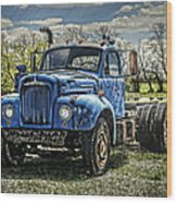 Big Blue Mack Wood Print