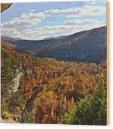 Big Bluff Wood Print