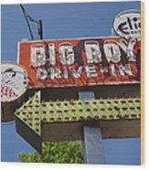 Big Boy Drive-in Wood Print