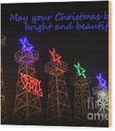 Big Bright Christmas Greeting  Wood Print
