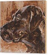 Big Brown Dog Wood Print