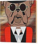 Big Bull Dog Wood Print