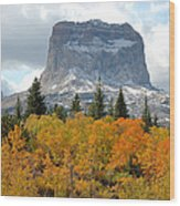 Big Chief Mountain - The Rock Of Legend Wood Print