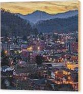 Big City Lights Wood Print
