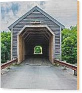 Big Covered Bridge Wood Print by Jason Brow