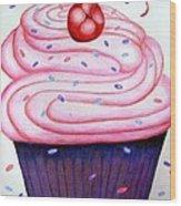 Big Cupcake Wood Print