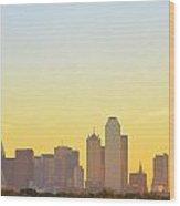 Big-d At Sunrise Abstract Wood Print
