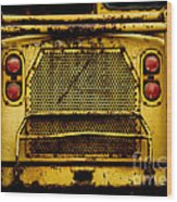 Big Dump Truck Grille Wood Print