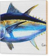 Big Eye Tuna Wood Print