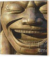 Big Face Climber Wood Print
