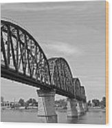 Big Four Bridge Bw Wood Print