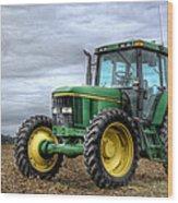 Big Green Tractor Wood Print by Robert Jones