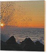 Big Island Hawaii Kona Sunset Wood Print
