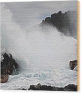 Big Island Hawaii Surge Wood Print