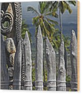 Big Island Hawaii Washed Wood Print