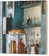 Big Jar Of Pretzels Wood Print