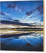 Big Lake After Sunset Wood Print