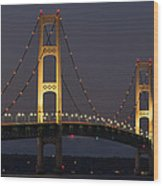 Big Mackinac Bridge 55 Wood Print