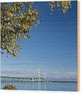 Big Mackinac Bridge 57 Wood Print